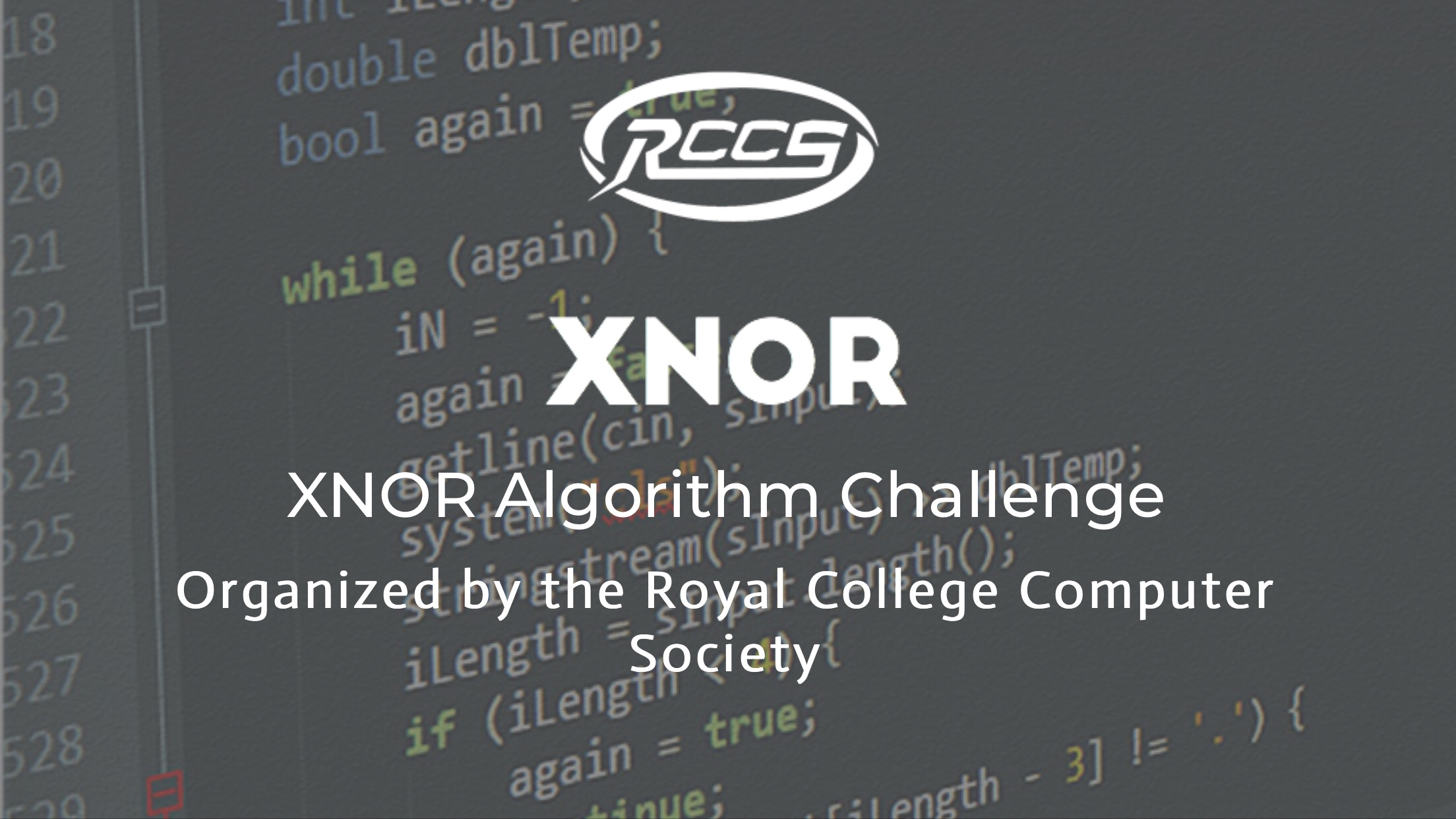 XNOR – Algorithm competition 2018